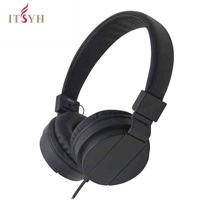 ITSYH Original 3 5mm Wired Stereo Deep Bass Heaphone Video Game Student Earphone Headset With Microphone