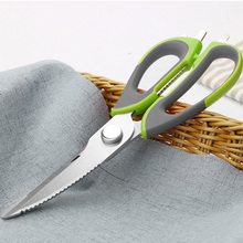 купить Stainless Steel Kitchen Scissors Knife For Fish Chicken Bone Vegetables Household Multi function Cutter Shears Cooking Tools дешево