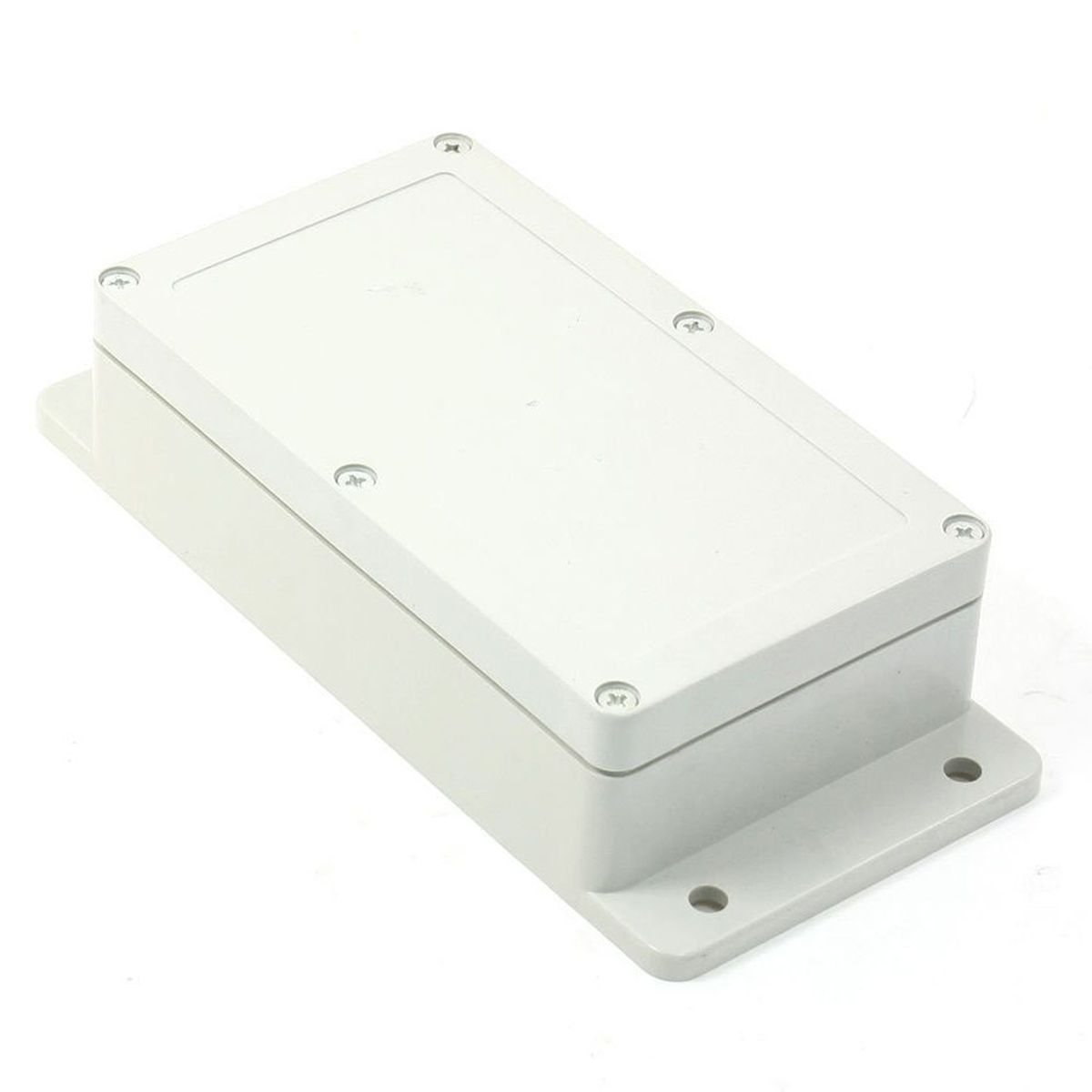 Waterproof Electronic Project Enclosure White Plastic Power Junction Box Case 158mmx90mmx46mm waterproof abs plastic electronic box white case 6 size