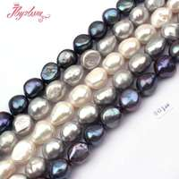 Free Shipping 11 12mm Potato Shape Natural Freshwater Pearl Spacer Beads For DIY Necklace Bracelet Jewelry