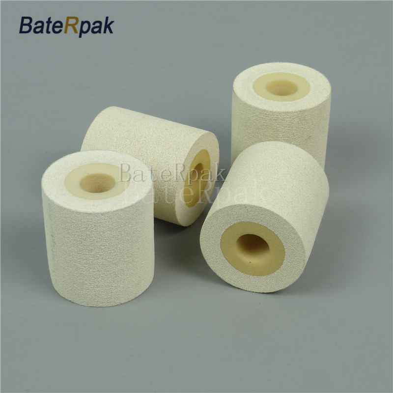 White Color Solid Ink roll,BateRpak 12pcs/carton 100% sponge ink roller,solid coding machine rolls,36*32/40mm 90-130degree