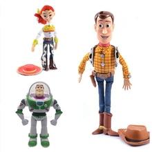 Woody Jessie Toy Story 3 Buzz Lightyear Toy PVC figuras de acción  coleccionables modelo de juguete cabritos electrificada con vo. 8dd04acaccd