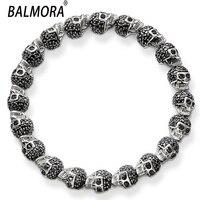 Fashion 925 Silver Bracelets Men Handsome DIY Skull Bracelets Bangle Best Gift Wholesale Free Shipping DZ1467