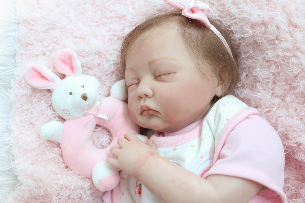 High-end Reborn baby dolls 2255cm silicone dolls reborn baby sleeping dolls rooted eyelashes and hair Bebes reborn bonecasHigh-end Reborn baby dolls 2255cm silicone dolls reborn baby sleeping dolls rooted eyelashes and hair Bebes reborn bonecas