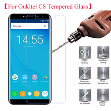 2PCS 5.5 inch Oukitel C8 Tempered Glass 100% Original Premium 9H 2.5D Screen Protector Anti-scratch Film For C8 Phone Glass > original tempered glass for oukitel c3 transparent screen protector