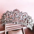 Baroque Queen's crown rhinestone hair ornaments jewelry European princess bride wedding headdress wedding hair jewelry