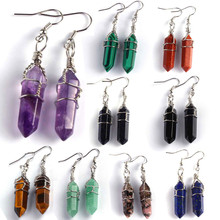 Kraft-beads Silver Plated Wire Wrapped Amethysts Hexagon Column Rose Pink Quartz Drop Earrings Opalite Opal Jewelry ракетка для настольного тенниса giant dragon taichi