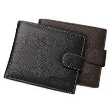 Echtes Leder Brieftasche Männer Clip Rindledermappe Männer 2017 Münze Brieftasche Kleine Kupplungen herren Geldbörse Münzfach Kurze Männer brieftasche