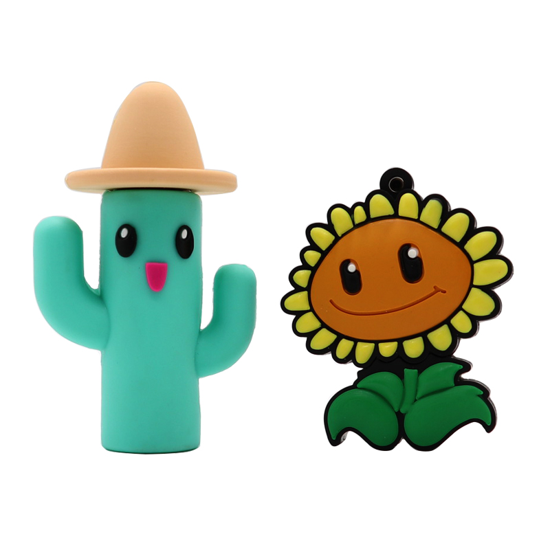 Usb Flash 32GB Pen Drive 16GB Cartoon 8GB Memory Stick Cactus And Sunflower Style Pendrive  Memory Stick Creative Gift Cle Usb