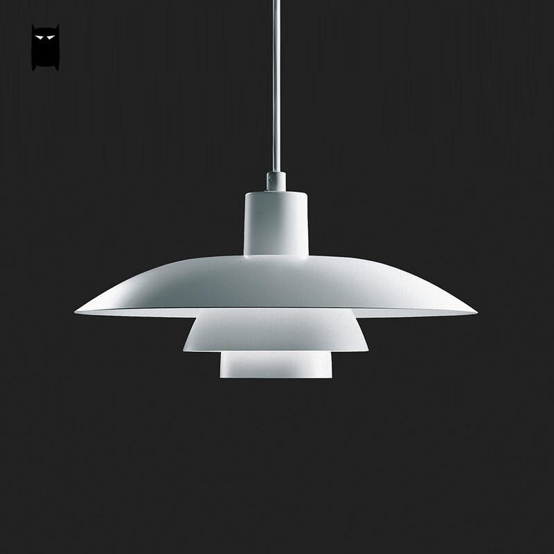 Matte White Painting Aluminum PH4/3 Flower Pendant Light Fixture Nordic Modern Suspended Ceiling Lamp Abajour Luminaria Design