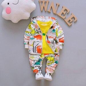Image 3 - เด็กเสื้อผ้าเด็กชุดเด็กชุดคุณภาพสูงการ์ตูนฤดูใบไม้ผลิฤดูใบไม้ร่วงCoat + เสื้อ + กางเกงชุดเสื้อผ้าเด็กชุด 1 4Y