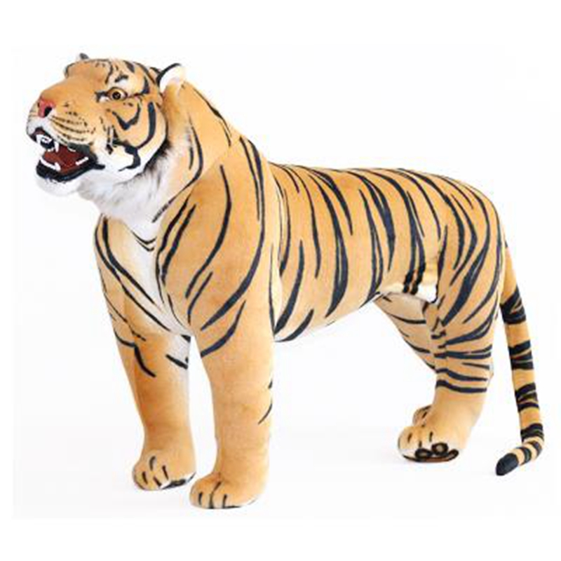 Dorimytrader Domineering Lifelike Tiger Standing Model Stuffed Soft Huge Emulational Animal Tiger Toy House Decoration DY60653