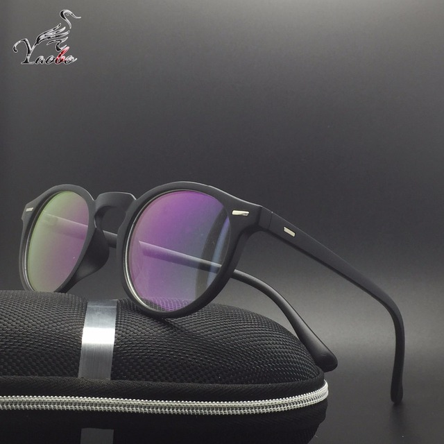 3ce4bcc11b Yaobo Fashion Glasses Frame Men Women Retro Vintage Optical Eyeglasses  Myopia Glasses Frame Spectacle Round Oculos de grau