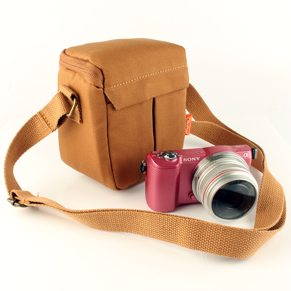 Camera Canvas <font><b>Case</b></font> Shoulder Bag For Panasonic <font><b>Lumix</b></font> DC-TZ90 TZ91 TZ80 TZ81 TZ70 TZ60 TZ57 TZ50 TZ40 TZ30 TZ20 TZ10 <font><b>LX100</b></font> II LX15 image
