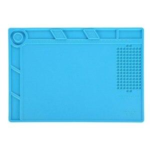 35x25cm Magnetic Screw Repair Mat Heat Insulation Silicone Repair Tools Pad Desk Mat BGA Soldering with Screw Keeper for iphone(China)