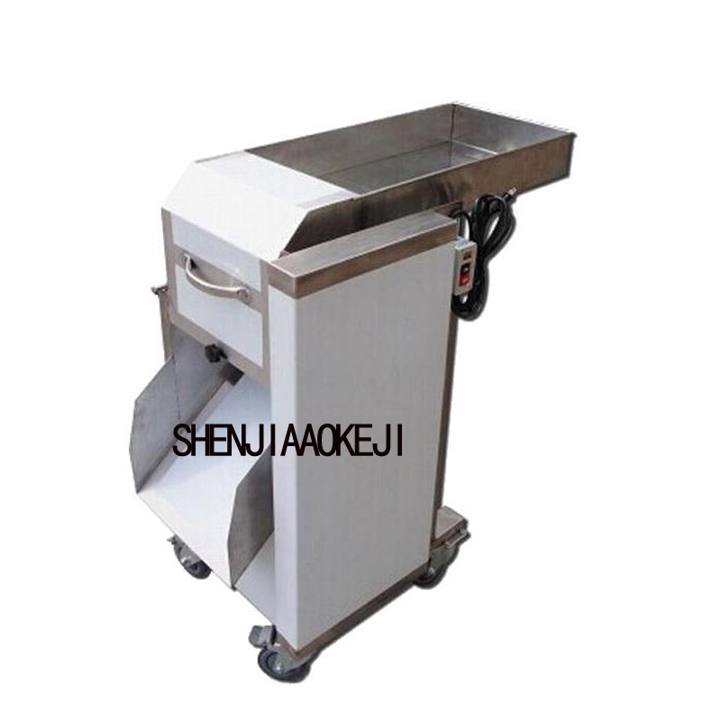 Vertical Stainless Steel Fish Cutting Machine Squid Cutting Machine Cut Rhombus Squid Cut Fish Machine 750W 1PC 220V