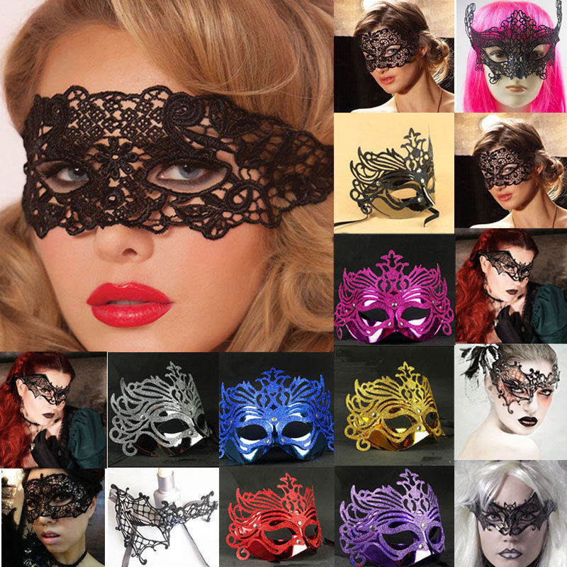 2019 New Fashion Hot <font><b>Sexy</b></font> Charming Women Ladies Gothic Black Lace Nightclub Belly Dance Party Halloween <font><b>Eye</b></font> <font><b>Mask</b></font> image