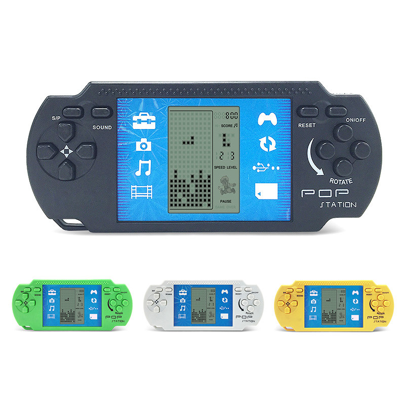 Children Classical Players Retro Portable Tetris Handheld Video Game Console Tetris Kids ...