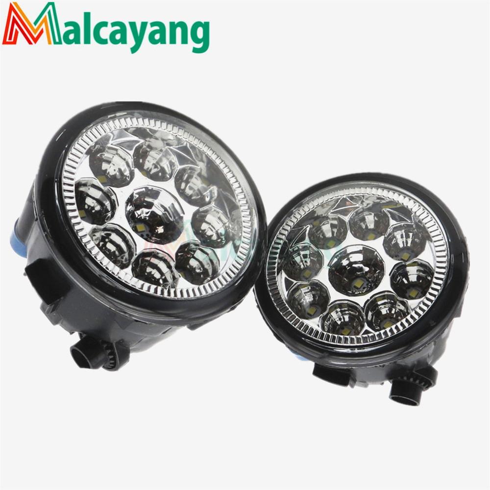 1 SET (Left + right) Car Styling Front LED Fog Lamps Fog Lights 26150-8990B For Infiniti FX35 FX37 FX50 2006-2015 for lexus rx gyl1 ggl15 agl10 450h awd 350 awd 2008 2013 car styling led fog lights high brightness fog lamps 1set
