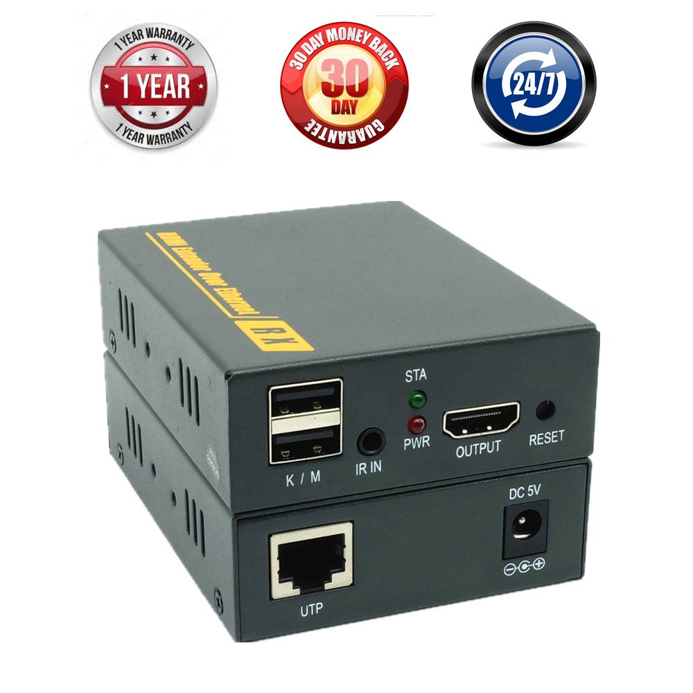 Top Quality 500ft 20 60 KHz IR USB KVM Over TCP IP Extender 1080P USB HDMI