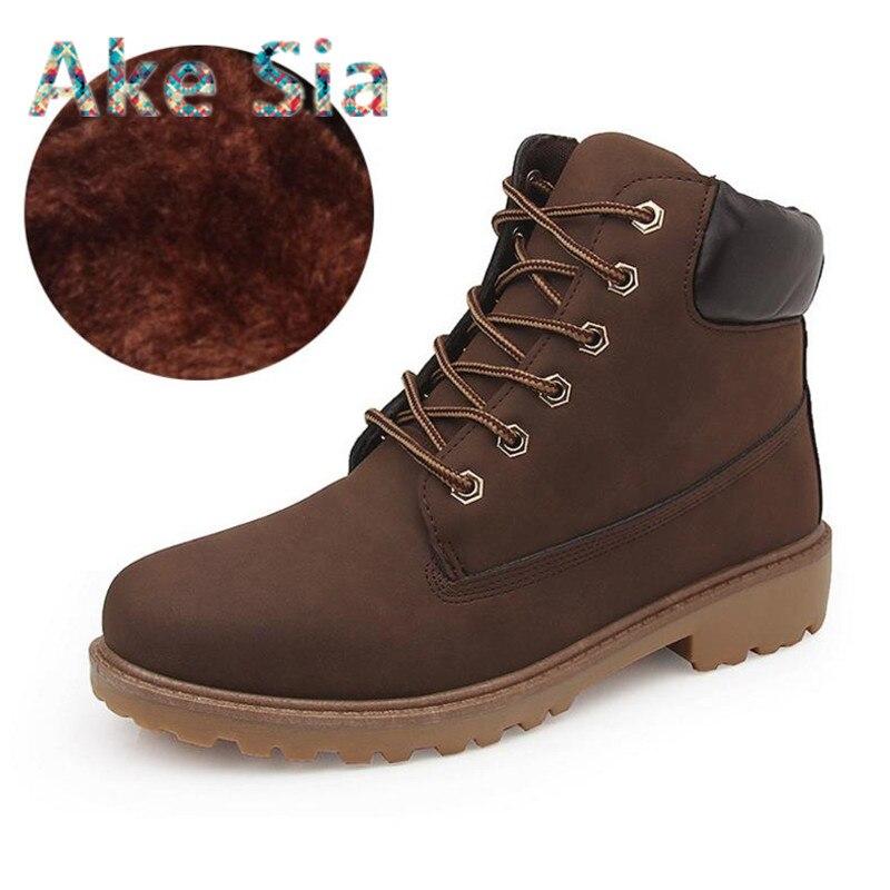 Neue Herbst Winter Stiefel Männer mode Winter Schuhe Camouflage Warme Plüsch Mode Marke Mens Knöchel Warme stiefel Kalten Winter s0031
