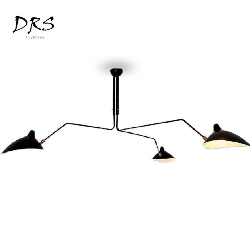 Скандинавские Ретро Потолочные светильники Serge Mouille промышленный деко простой светодиодный светильник для гостиной спальни домашний освет...