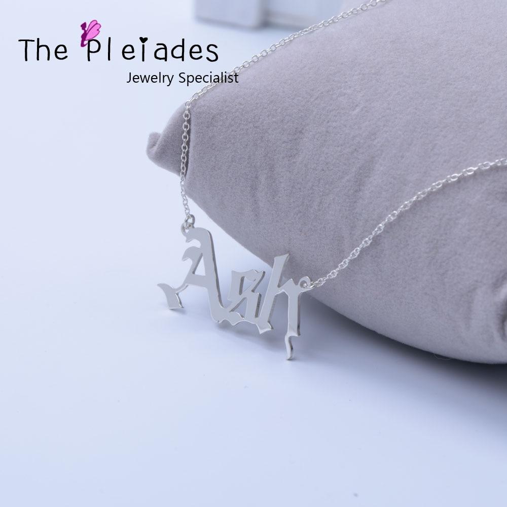 Английское ожерелье из серебра 925 пробы, фирменное ожерелье на заказ, особенный подарок для женщин, лучший друг