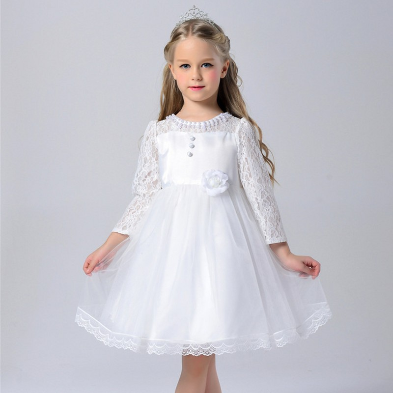 Girls Princess Flower Dresses For Wedding Party Bridesmaid