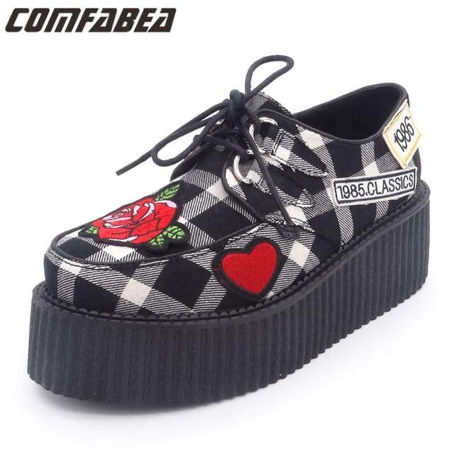 Le Punk Chaussures Noires Pour Femmes Punk Printemps xezOaHKqPW