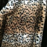 Lange stapel luipaardprint bont stof, kussen faux fur stof yard 150*50 cm/stuk