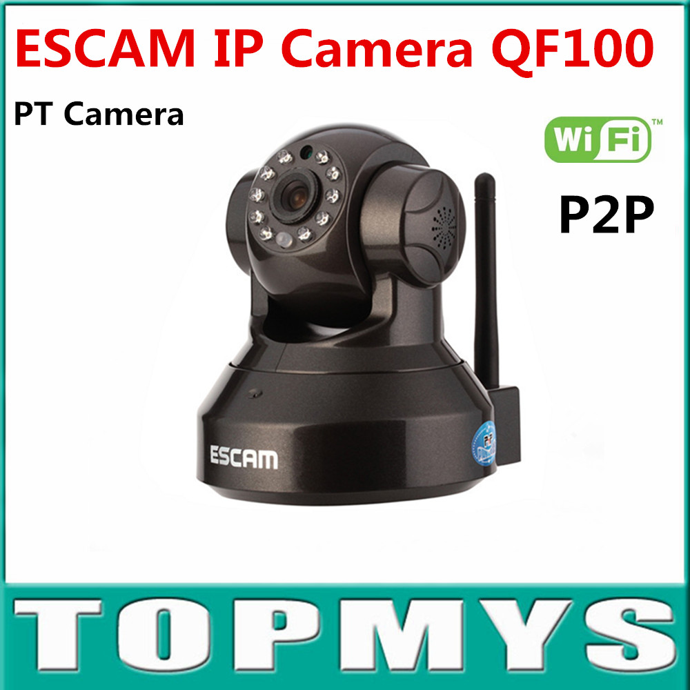 ESCAM QF100 Security IP WIFI Camera 1MP HD 720P H.264 Onvif Dome P2P WPS Encryption Pan Tilt Camera