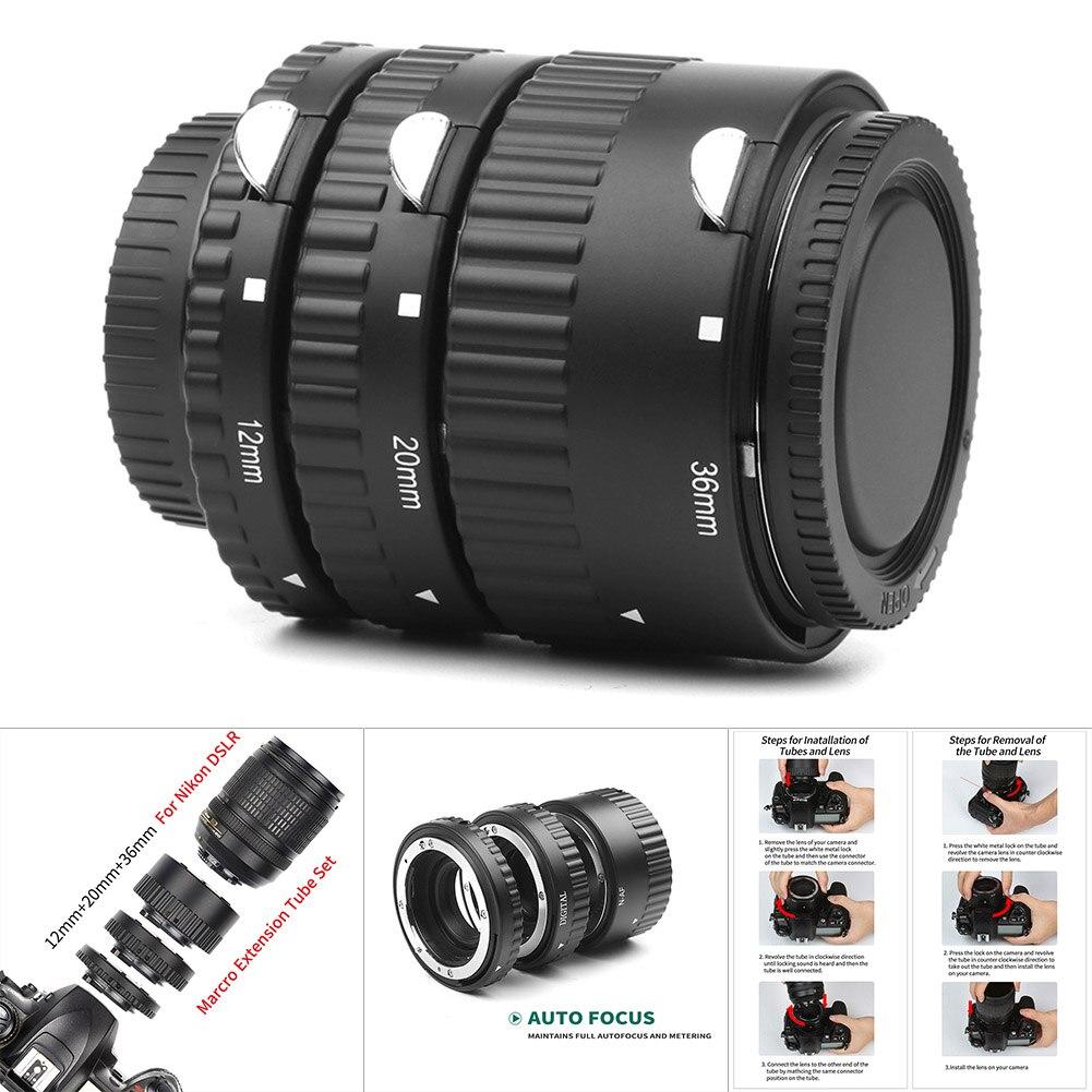 1 ensemble Tube d'extension de caméra mise au point automatique micro-éperon anneau de photographie pour Nikon SD998