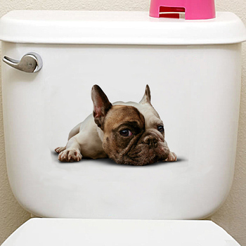 Cats 3D Wall Sticker Toilet Stickers Hole View Vivid Dogs Bathroom Home Decoration Animal Vinyl Decals Art Sticker Wall Poster 26