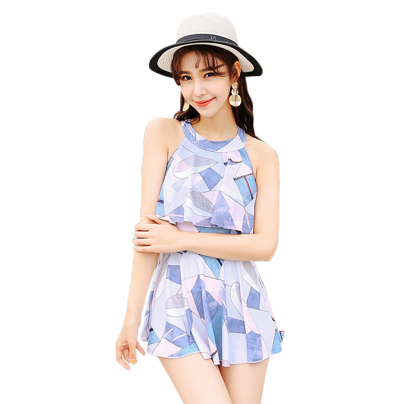 High Neck Swimwear Women One Piece Swimsuit Female Ruffle Sexy Beach Dress 2018 Swim Wear Ladies Push Up Bathing Suit Beachwear cheap sexy bathing suits swimwear one piece female may beach girls one piece swimsuit 2017 korea black ladies classic high waist
