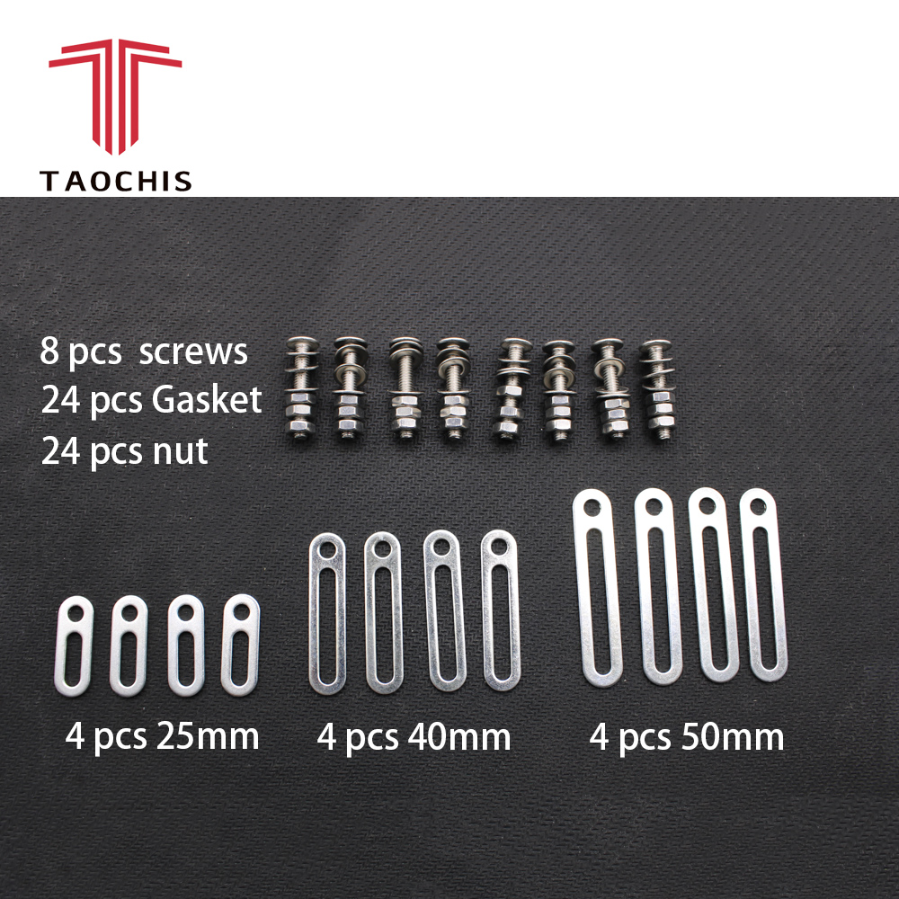 TAOCHIS Head light Retrofit Tools Adapter Frame For Koito Q5 Hella Projector Lens Connecting Plates 25mm Modify Screws