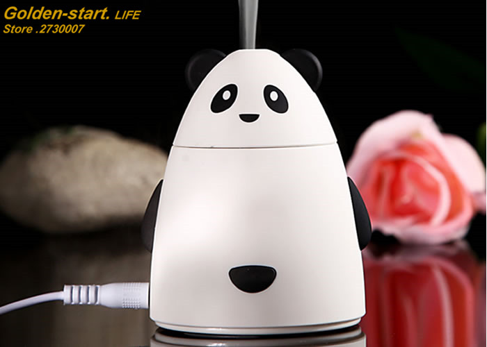 Mini Cartoon Bear Design USB Humidifier Air Cleaner Purifier Freshener Mist Maker Fogger For Office Car Room Free Shipping free shipping mini portable air purifier air freshener for car and home appliances aromatherapy