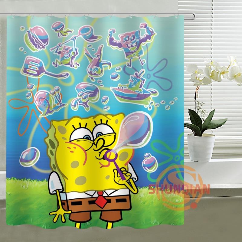 The SpongeBob SquarePants Shower Curtain Custom Waterproof ...