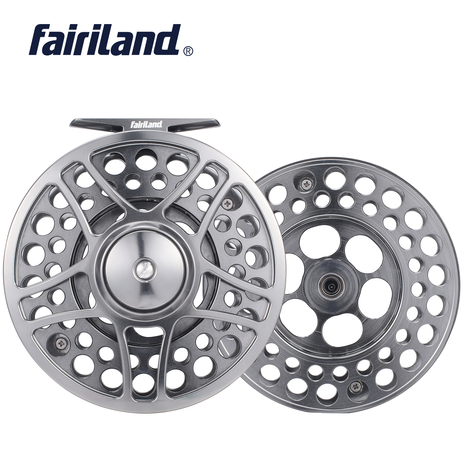 110mm 4 33 fly reel with SPARE SPOOL 9 11 3BB PRECISION MACHINED fly fishing reel