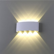 IP65 waterproof 8W LED wall light Die-cast aluminum sconce Indoor outdoor lighting lamp Wall mounted AC85-265V Input
