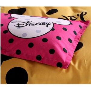 Image 4 - Disney Mickey Maus Bettbezug set 3 oder 4 Stück Volle Twin Einzigen Größe Bettwäsche Set für Kinder Schlafzimmer Dekor bett Leinen