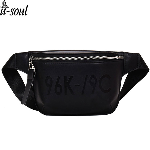 703a392c5beb Black Waist Bag Women Waist Fanny Packs Belt Bag Luxury Brand PU Leather  Chest Bag Red Black Color 2018 New Arrival A5327