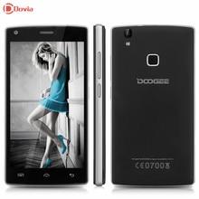 X5 MAX PRO 5.0 pulgadas HD Smartphone Doogee MTK6737 Quad Core 2 GB RAM 16 GB ROM Del Teléfono móvil 4000 mAh de identificación de Huellas Dactilares GSM/WCDMA/LTE