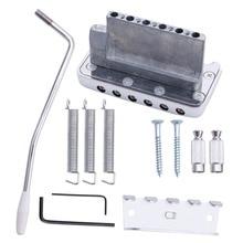 Tremolo Bridge For Electric Guitar System Parts Chrome