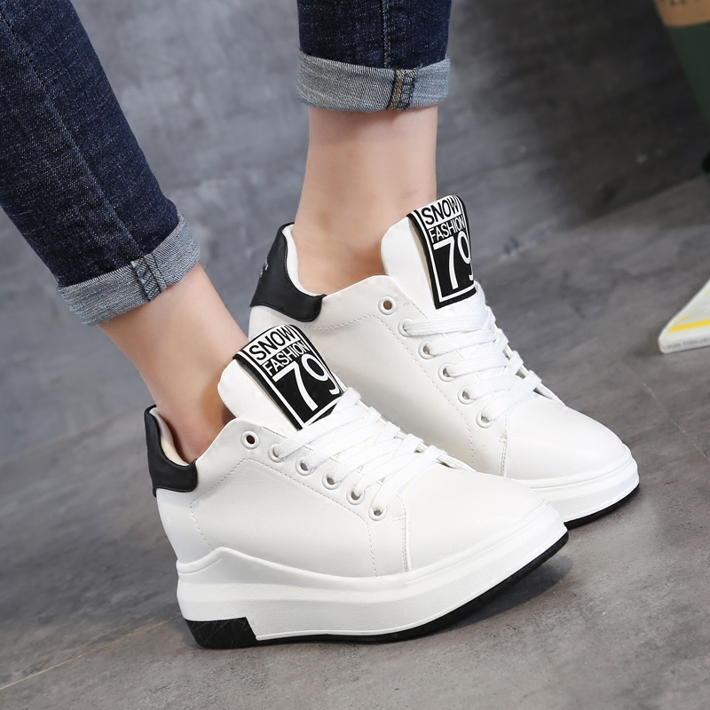 women height increasing thick sole sport running shoes ladies flats jogging gym trainers shoes girls sport running shoes women
