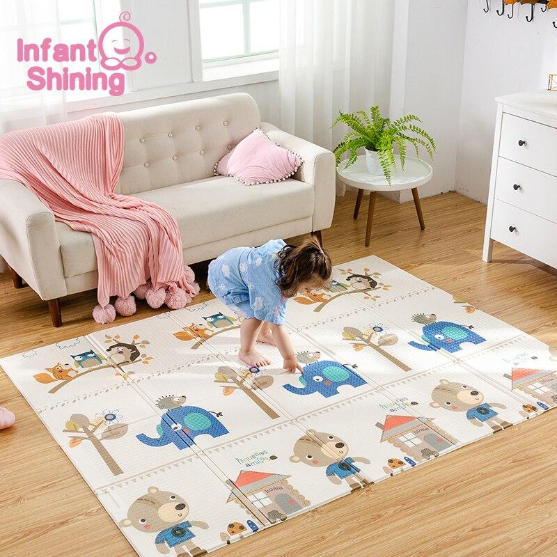 Bébé brillant bébé tapis Portable pliable bébé escalade Pad bébé jouer tapis mousse Pad XPE insipide salon jeu couverture - 2