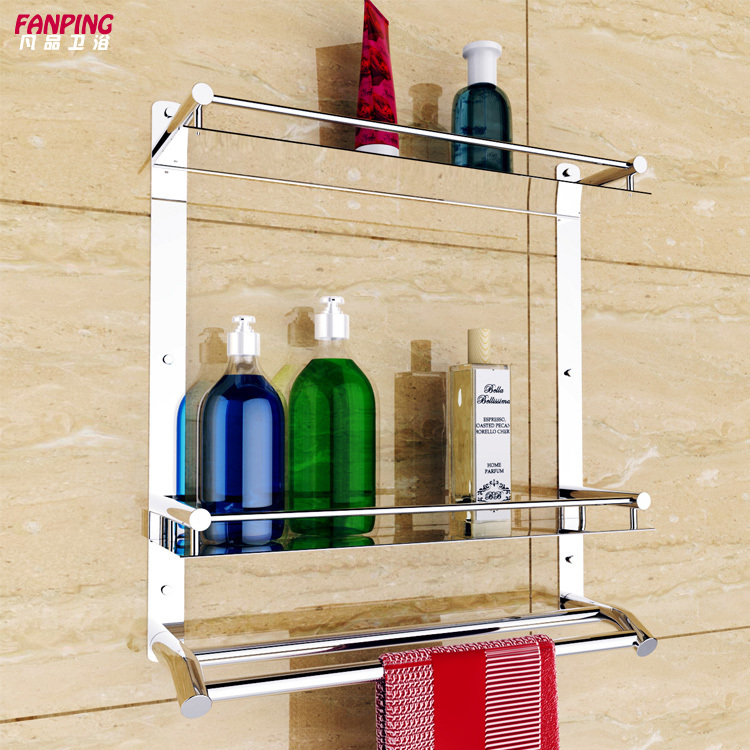 Bathroom shelves 304 stainless steel double wall stainless - Bathroom shelves stainless steel ...