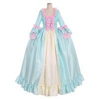 Cosplaydiy 8th Century Marie Antoinette Ball Gown Dress Rococo Colonial Georgian Dress Women Wedding Dress L320