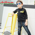 chifave New Fashion Kids Boys Clothing Korean Style Autumn Winter O-neck Collar Animal Pattern Pullover Children Boys Sweater