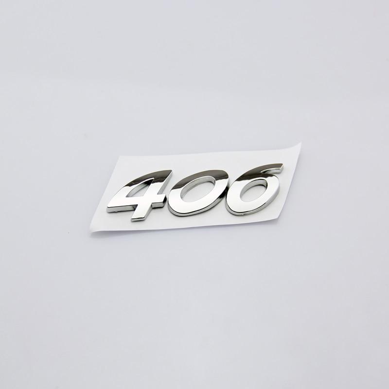 Высокое качество мода личность автомобиль наклейки 3D серебро надписи 406 задний багажник значок эмблема наклейка для Peugeot 406 знак логотип