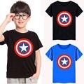 Avengers Assemble Capitão América Meninos verão Crianças Encabeça Roupas Crianças Dos Desenhos Animados Boy Tee Camisetas 2-7Y